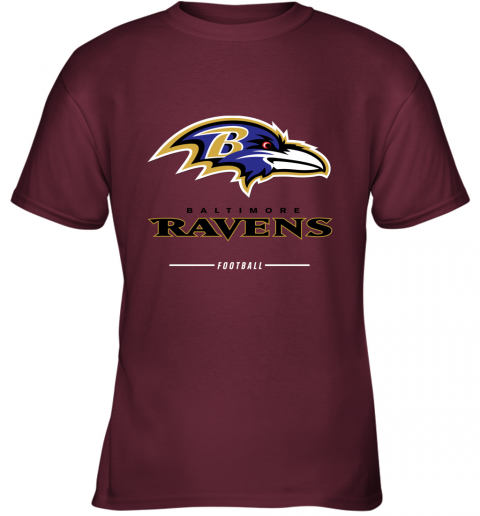 rsqv mens baltimore ravens nfl pro line black team lockup t shirt youth t shirt 26 front maroon