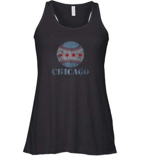 Vintage Chicago Baseball Flag Racerback Tank