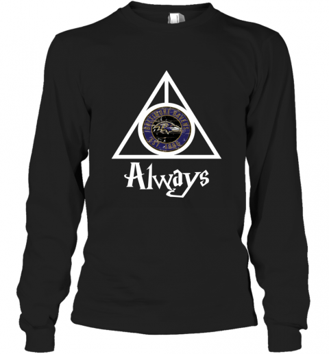 Always Love The Baltimore Ravens x Harry Potter Mashup NFL Long Sleeve T-Shirt