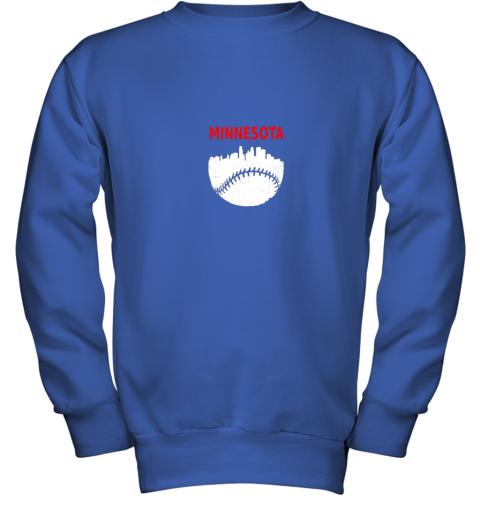 to44 retro minnesota baseball minneapolis cityscape vintage shirt youth sweatshirt 47 front royal