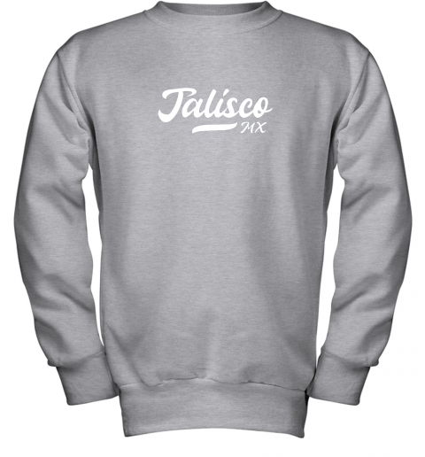 wckj tighe39 s jalisco mx mexico baseball jersey style youth sweatshirt 47 front sport grey