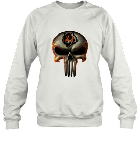 Cincinnati Bengals The Punisher Mashup Football Sweatshirt