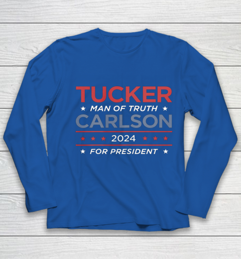 Vote For Tucker Carlson 2024 Presidential Election Campaign Youth Long Sleeve 7