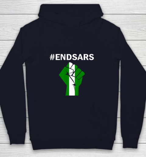 EndSARS End SARS Nigeria Flag Colors Strong Fist Protest Youth Hoodie 2