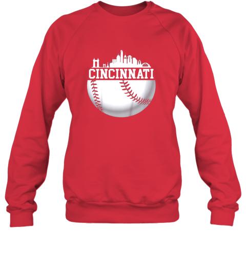 nutw vintage downtown cincinnati shirt baseball retro ohio state sweatshirt 35 front red