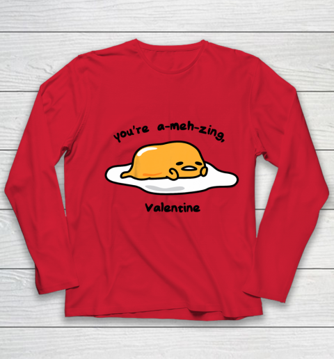 Gudetama the Lazy Egg A meh zing Valentine Youth Long Sleeve 8