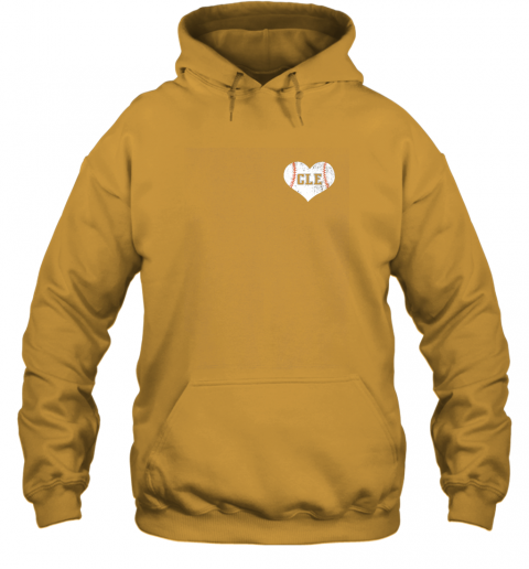 ulfw vintage cleveland baseball sweatshirt ohio cle hoodie 23 front gold