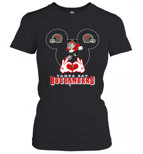 I Love The Buccaneers Mickey Mouse Tampa Bay Buccaneers s Women's T-Shirt