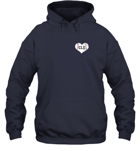 ulfw vintage cleveland baseball sweatshirt ohio cle hoodie 23 front navy