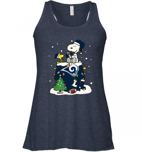 vobz a happy christmas with los angeles rams snoopy flowy tank 32 front heather navy