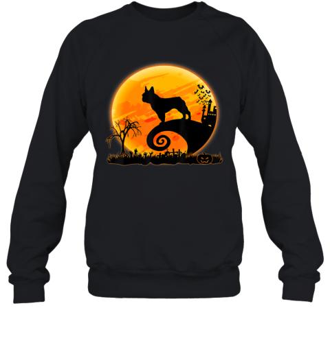 French Bulldog Dog And Moon Funny Halloween Costume Gift Sweatshirt