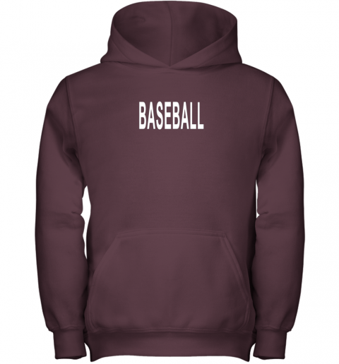 krcn shirt that says baseball youth hoodie 43 front maroon