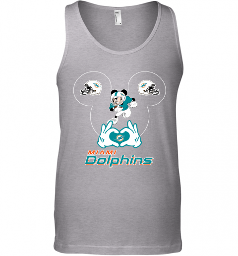 s0wz i love the dolphins mickey mouse miami dolphins unisex tank 17 front sport grey