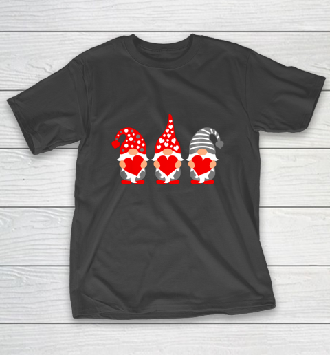Gnomes Hearts Valentine Day Shirts For Couple T-Shirt