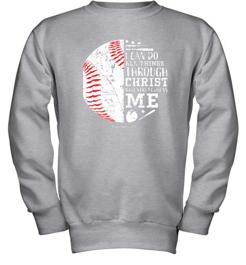 761o christian baseball shirts i can do all things through christ youth sweatshirt 47 front sport grey