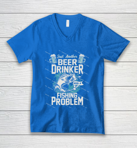 Beer Lover Funny Shirt Fishing ANd Beer V-Neck T-Shirt 5