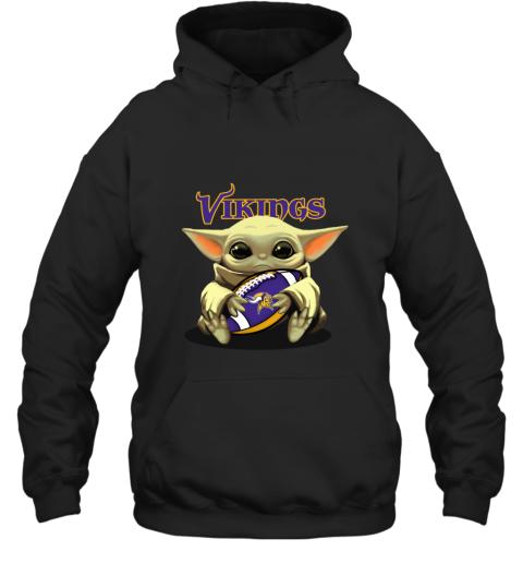 Baby Yoda Loves The Minnesota Vikings Hoodie