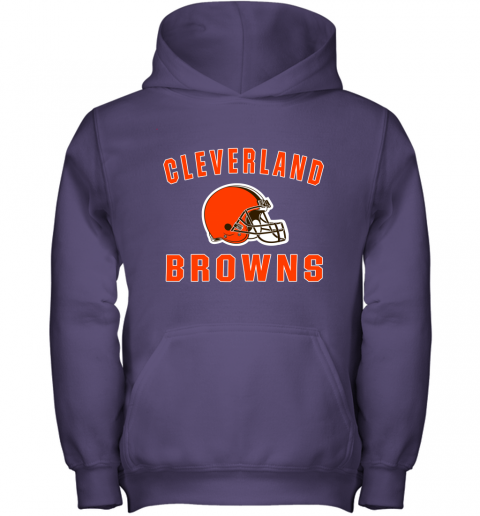 r6zh cleveland browns nfl line by fanatics branded brown victory youth hoodie 43 front purple