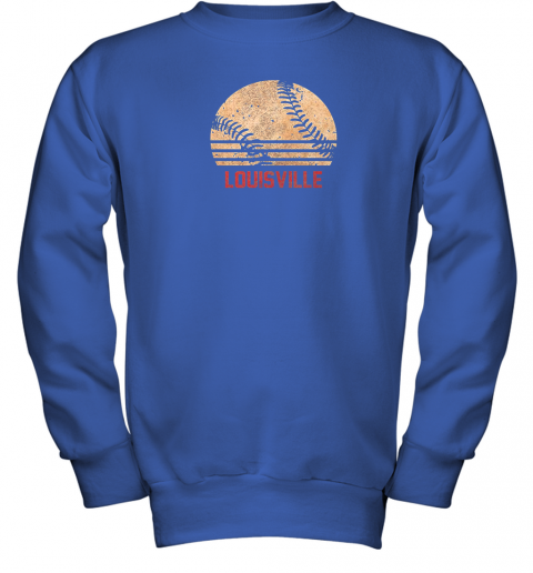 pl13 vintage baseball louisville shirt cool softball gift youth sweatshirt 47 front royal