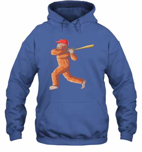 3pdz bigfoot baseball sasquatch playing baseball player hoodie 23 front royal