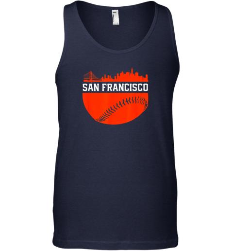 ntc0 san francisco baseball vintage sf the city skyline gift unisex tank 17 front navy