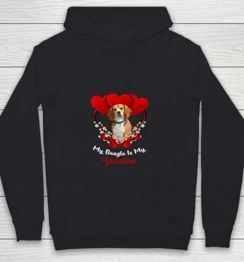My Beagle is My Valentine Day 2019 Dog Youth Hoodie