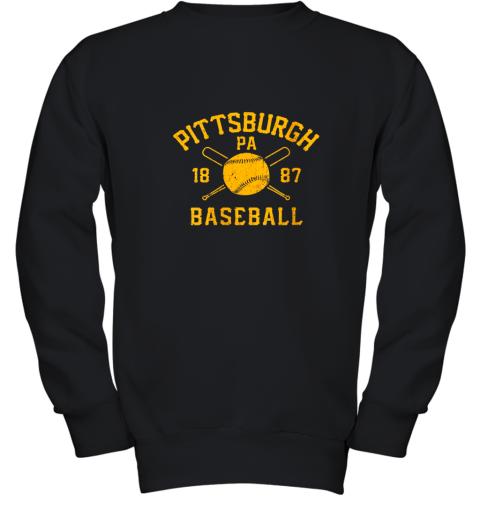 Vintage Pittsburgh Baseball Pennsylvania Pirate Retro Gift Youth Sweatshirt