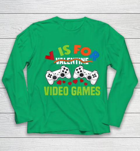 Funny Video Games Lover Valentine Day Youth Long Sleeve 4