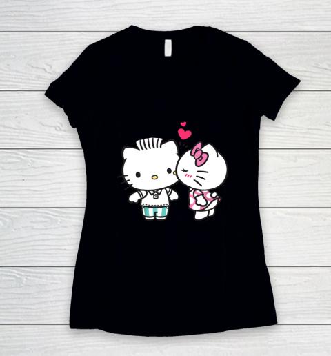 Hello Kitty and Dear Daniel Valentine Tee Women's V-Neck T-Shirt