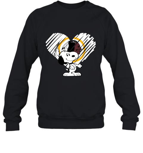 I Love Snoopy Washington Redskins In My Heart NFL Sweatshirt