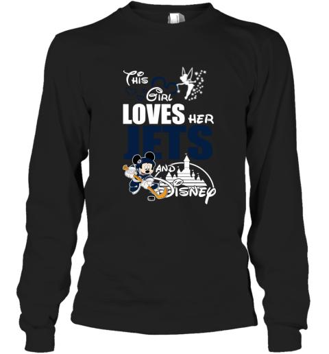 Girl Love Her WINNIPEG JETS And Mickey Disney Long Sleeve T-Shirt