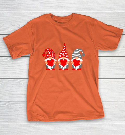 Gnomes Hearts Valentine Day Shirts For Couple T-Shirt 4
