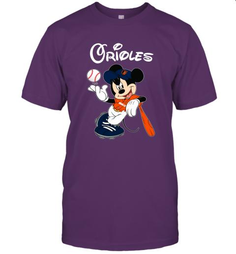 zjx3 baseball mickey team baltimore orioles jersey t shirt 60 front team purple
