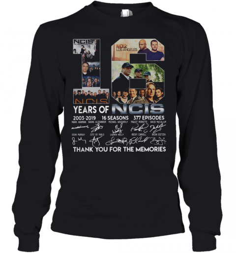16 Years Of NCIS 2003 2019 16 Seasons Thank You For The Memories Youth Long Sleeve
