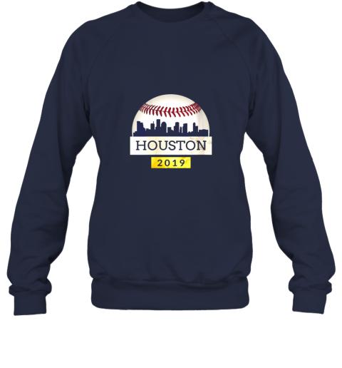 ve1t houston baseball shirt 2019 astro skyline on giant ball sweatshirt 35 front navy
