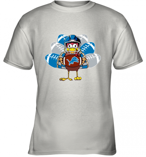 Detroit Lions  Thanksgiving Turkey Football NFL Youth T-Shirt