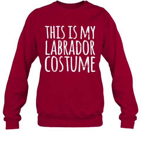 THIS IS MY LABRADOR COSTUME Dog Funny Easy Lazy Halloween Sweatshirt