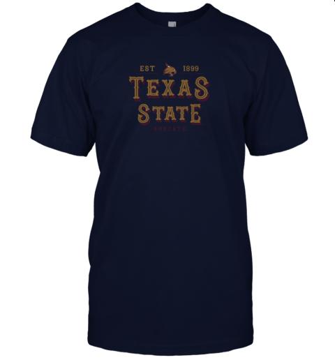 q2u1 texas state bobcats womens college ncaa jersey t shirt 60 front navy