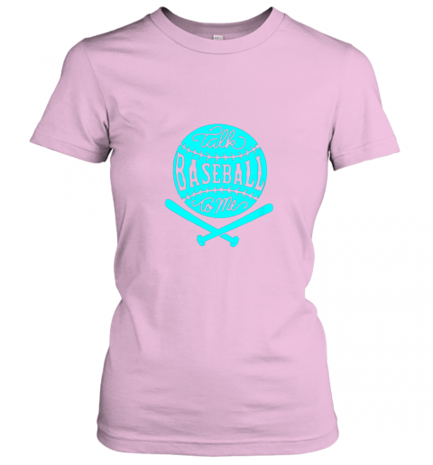 dwkd talk baseball to me groovy ball bat silhouette ladies t shirt 20 front light pink