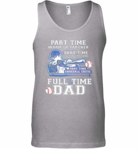lmzg mens part time warm up partner pitching machine baseball dad unisex tank 17 front sport grey