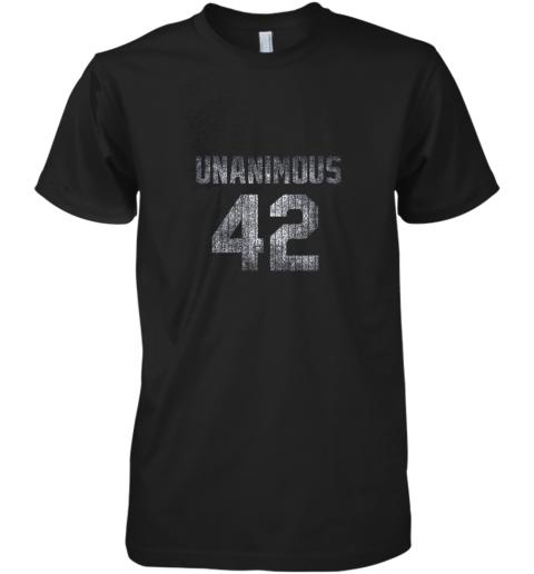 New York 42 Baseball Unanimous HOF Distressed Mo Hero Premium Men's T-Shirt
