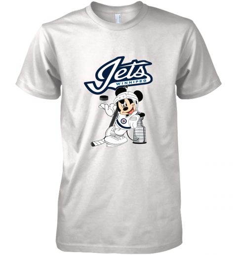 Mickey Winnipeg Jets With The Stanley Cup Hockey NHL Premium Men's T-Shirt