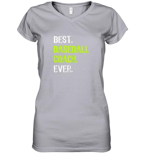 yk4o best baseball coach ever funny gift women v neck t shirt 39 front sport grey