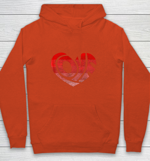 Retro Valentine Heart Shirt Great Valentines Day Gift Youth Hoodie 3