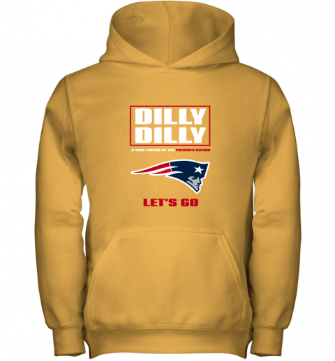 cxwm a true friend of the new england patriots youth hoodie 43 front gold
