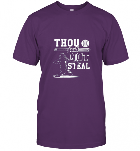 uf4o funny baseball thou shall not steal baseball player jersey t shirt 60 front team purple