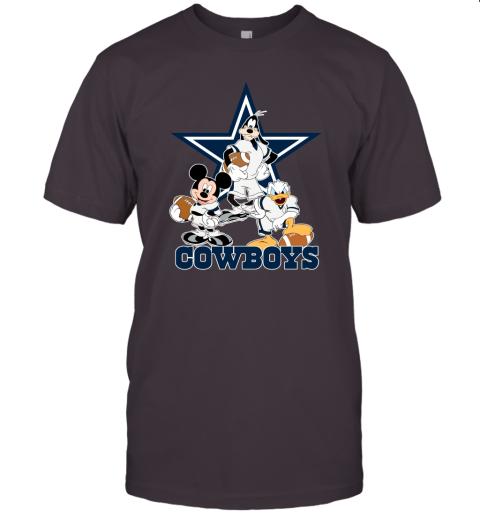 Mickey Donald Goofy The Three Dallas Cowboys Football Unisex Jersey Tee