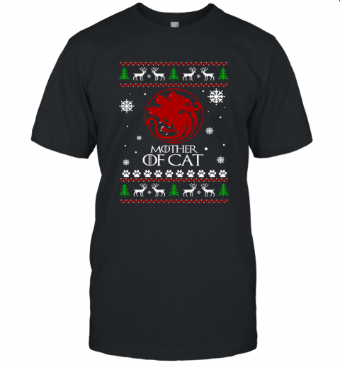 Game Of Thrones  Mother Of Cats Christmas Ugly Unisex Jersey Tee