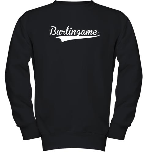 BURLINGAME Baseball Softball Styled Youth Sweatshirt