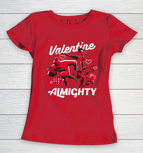 Disney Pixar Incredibles Family Valentine Almighty Women's T-Shirt 9